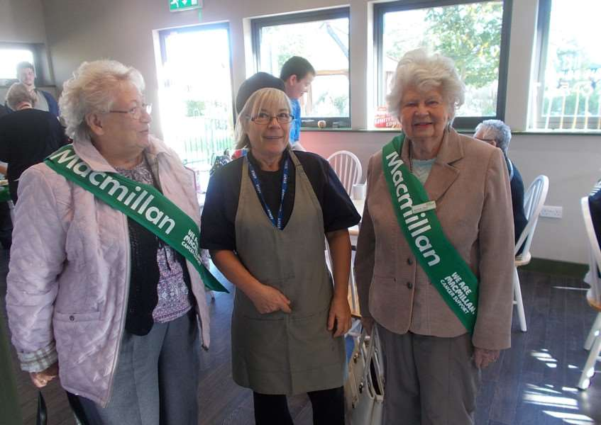 Alison Turner, of Meadowgate School in Wisbech, at Macmillan coffee morning. ANL-161014-124804001