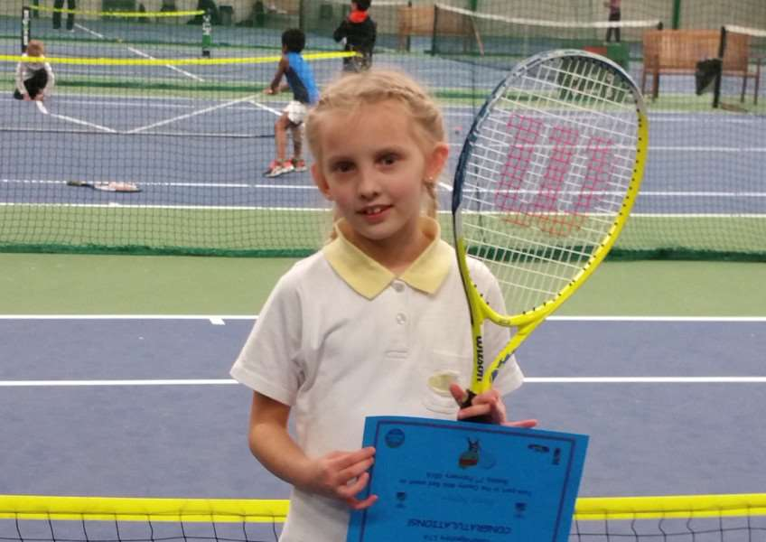 Marija Bogdane was chosen to play for Cambridgeshire at a Mini Red 8 & Under Inter-County Tennis Tournament. The event was held at Batchwood Indoor Tennis Centre in Hertfordshire. The prestigious event has been running for a number of years; 10 counties of the East Region competed against each other. Marija won 5 out of 6 matches, helping the girls team to finish second, and receive a silver medal. The boys managed to come fourth which meant Cambridgeshire finished equal runner up with Herts. Essex were the overall winners. Marija aged 8, trains at LK Tennis Academy, which is based at the Thomas Clarkson Academy, she has only been playing tennis for just over a year. If any juniors would like to play tennis but don't fancy coaching then a Friday fun session is running at the Thomas Clarkson 5.30 - 6.30.p.m. as a pay and play, �3. Come along and play loads of fun games rackets can be borrowed! For further enquiries ring/text Lisa 07788867502