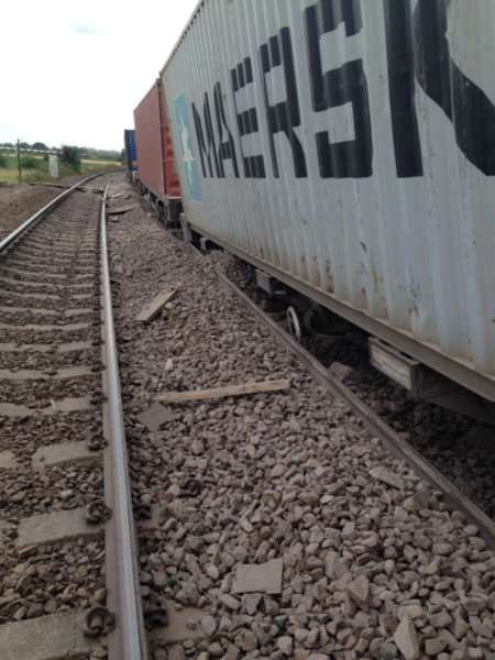 A freight train has derailed between Ely and Manea.