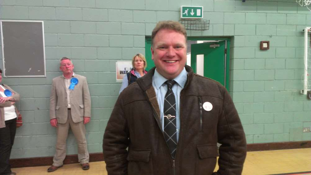 Steve Tierney is over the moon with the Conservative seats in Wisbech