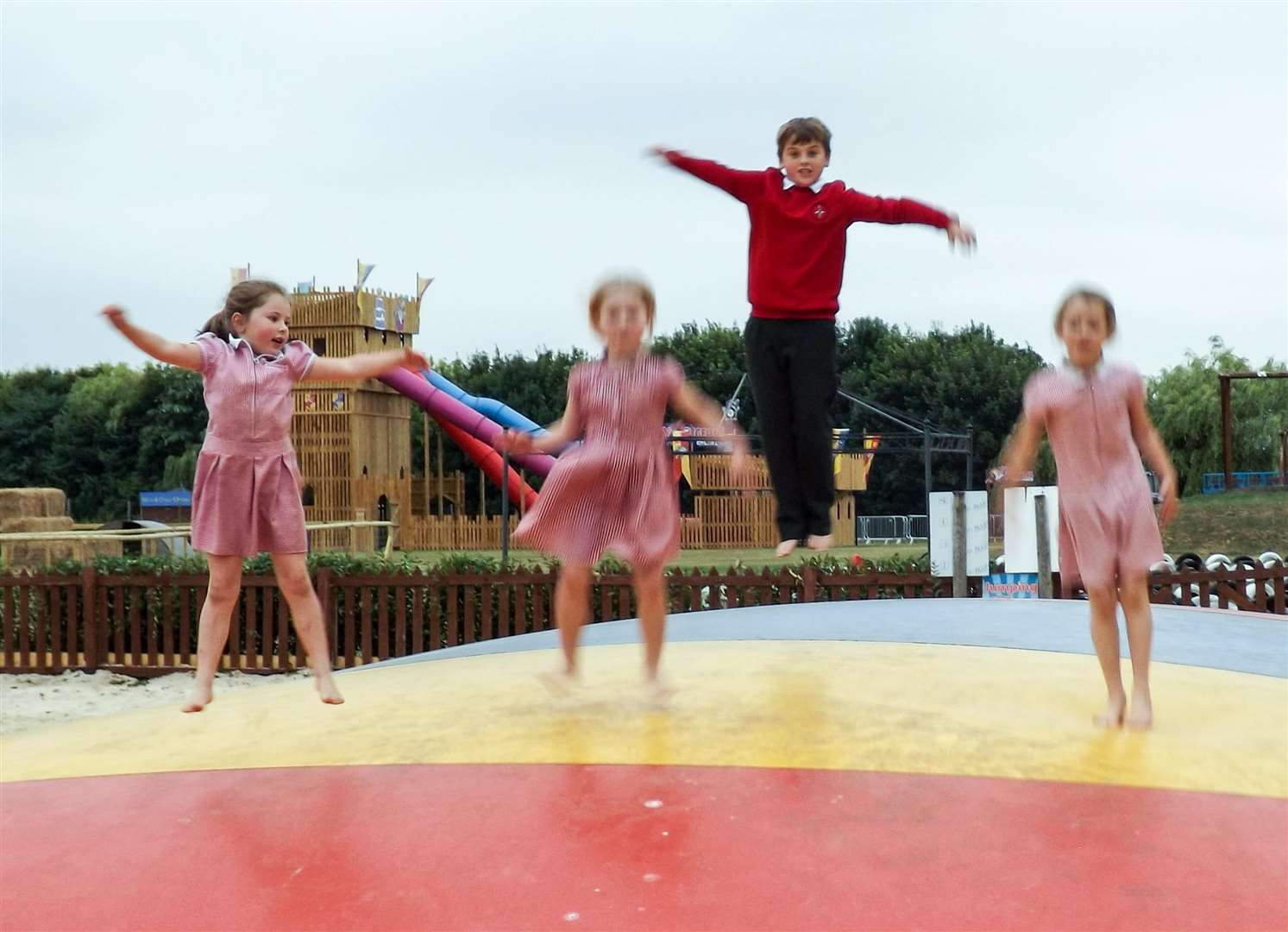 A giant inflated mattress was enjoyed by pupils from Guyhirn school at the Skylark launch. (3047045)