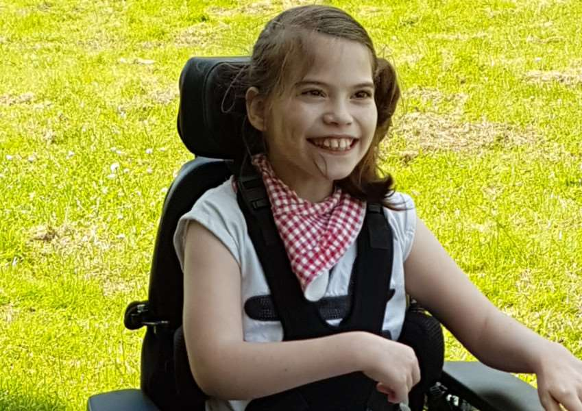 Ray of sunshine: Alice Bates has battled ill health every day of her life.
