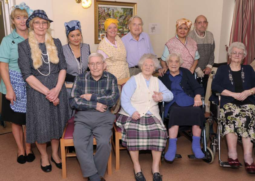 1940's day at Swan house care home Chatteris ANL-150413-145225009