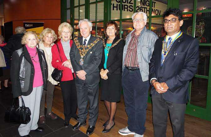 Wisbech mayor David Hodgson and his wife Judy at the Silver Monday event at the Light