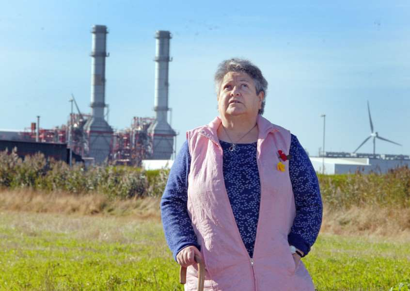 Great-granny Shirley Giles is on a working party trying to overturn Government consent for a second power station at Sutton Bridge.