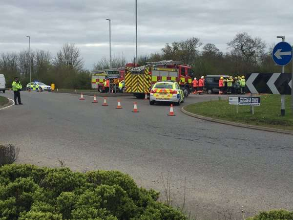 The scene at the crash near Sutton