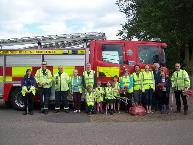Manea firefighters and friends