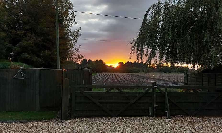 Helen Alderson took this photo in October of the sunset from Leverington.