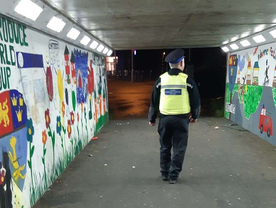 Police carrying out foot patrols. (22419372)