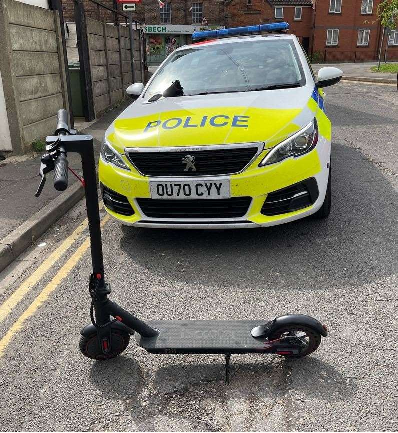 Police have had a crackdown of e-scooters in Wisbech. (48165875)