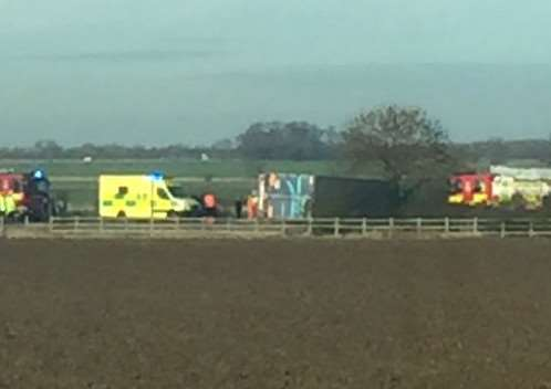 The scene on the A141 this morning - Photo courtesy of Gary Reed