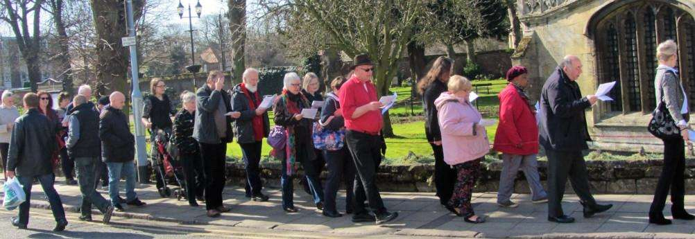 More than 100 people gathered to celebrate the true meaning of Easter when they took part in the annual Wisbech Churches Together Walk of Witness.