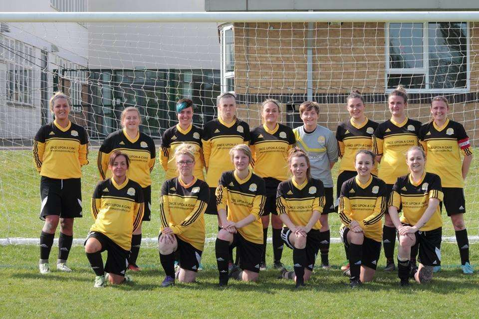 March Town Ladies. Back, from left: Clare Watts, Charley Miller, Emma Searle, Claire Newton, Tori Sharpe, Olivia Goode, Louise Barbour, Lexi Waters, Vicki Sharpe (Sponsor). Front: Becca Moy, Georgia Brown, Sydney Davis, Kara Lumley, Megan Webb. (5498971)