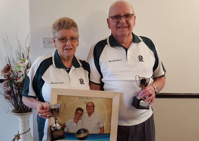 SHORT MAT BOWLS'Playing in a Short Mat Bowls competition of over100 pairs at the Potters Leisure Resort Hopton-on-Sea last week the pair of Maureen & Lonnie Fyson (Sutton St James) were competition winners. Two other pairs Avis & Tony Norris ( Wisbech St Mary) and Marian Taylor (Sutton St James) and Tony Hart ( March B.R.A.Z.A.) got to the Quarter Finals.