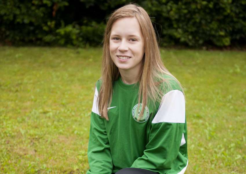 SOCCER SISTER: Footballer Millie Hopkisson of Levrington who is hoping to play professionally after completing her sports science course at the College of West Anglia, King's Lynn. Photo by Michael Fysh.