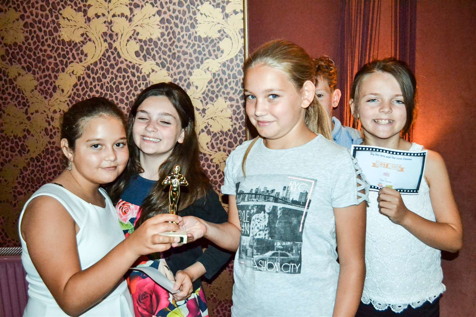 Children from Tydd St Mary school worked with Big Sky Arts to create a short film, which they then watched at a 'red carpet' premiere at the Luxe Cinema in Wisbech. (3297413)