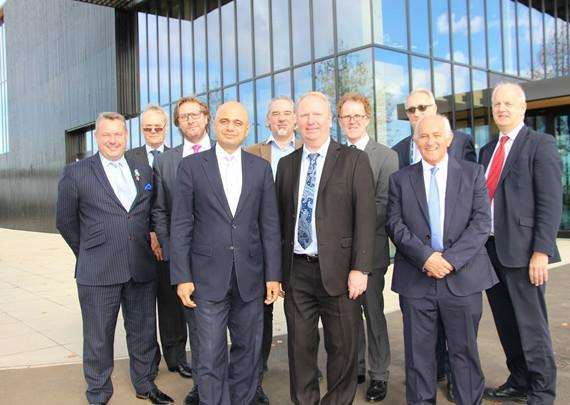 Local Government Secretary Sajid Javid with Cambridgeshire council leaders
