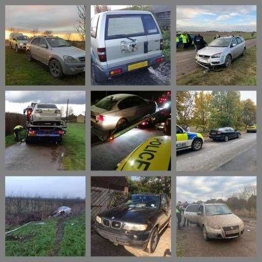 Police gave a tongue in cheek countdown of the top cars seized from hare coursers this season. (31708066)