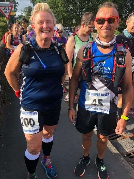 Pictured are March AC's David Burgess and Suzanne Orr just before the start of the Belper race. (15439258)