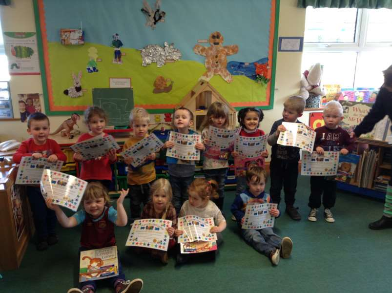 Children at Maple Grove Community Group are pictured with their certificates after winning categories at its annual Colour Collect competition.