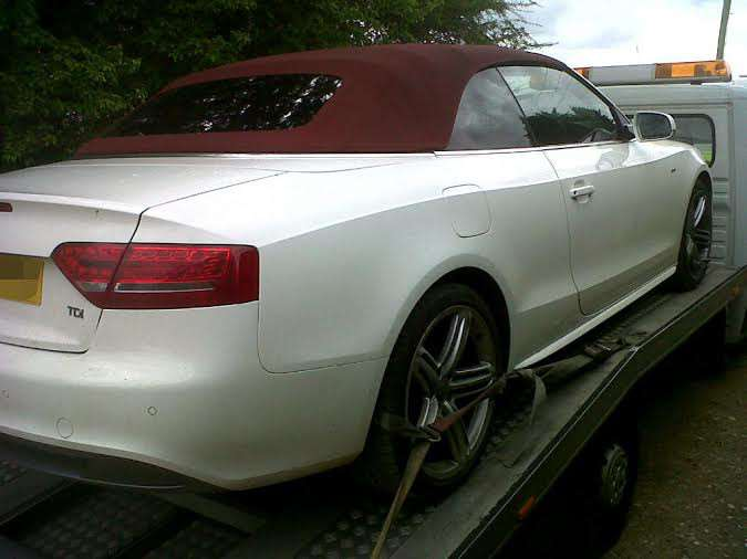 This Audi was seized during the operation