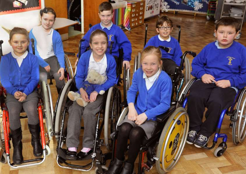 St Peter's Junior School Wisbech.'Pupils taking part in Different Abilities day ANL-161202-175124009