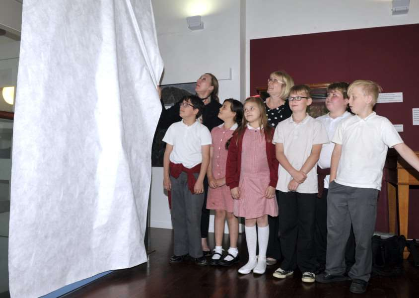 Opening of Napoleon exhibition at Wisbech Museum. unveiling of a painting by Elm Rd school children