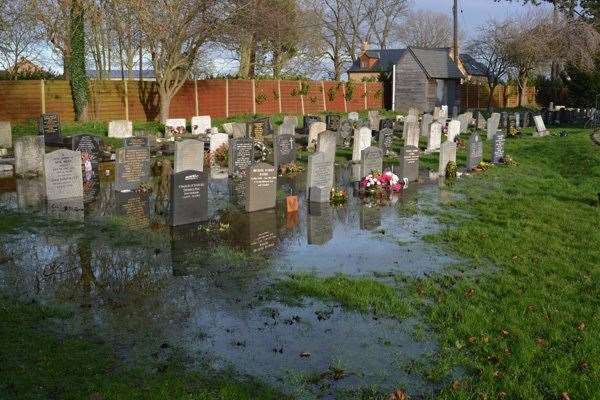 St Mary's Churchyard and church hall have been flooded twice in the past six weeks. (44370472)