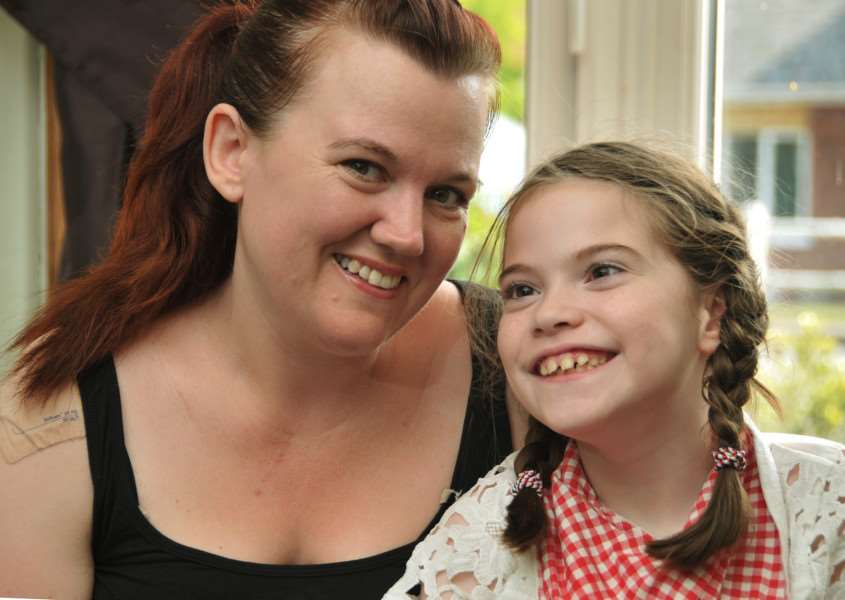 Happier times: a radiant Charlotte with her beautiful daughter, Alice. SG030715-113TW