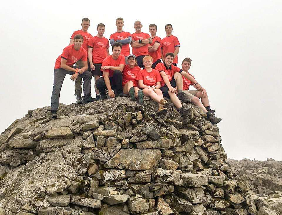 Students from College of West Anglia at the summit of Ben Nevis. (2501057)