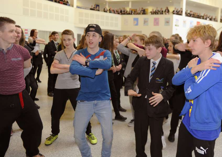 Dance event for Sport Relief at Thomas Clarkson Academy, Wisbech ANL-160320-162333009