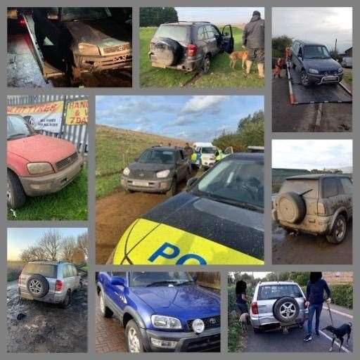 Police gave a tongue in cheek countdown of the top cars seized from hare coursers this season. (31708058)