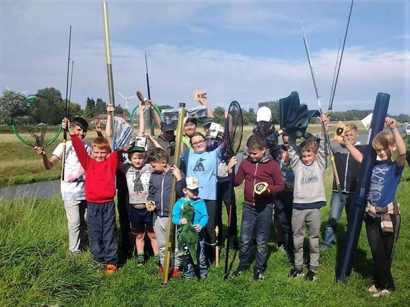 Tydd Gote Juniors with all their prizes