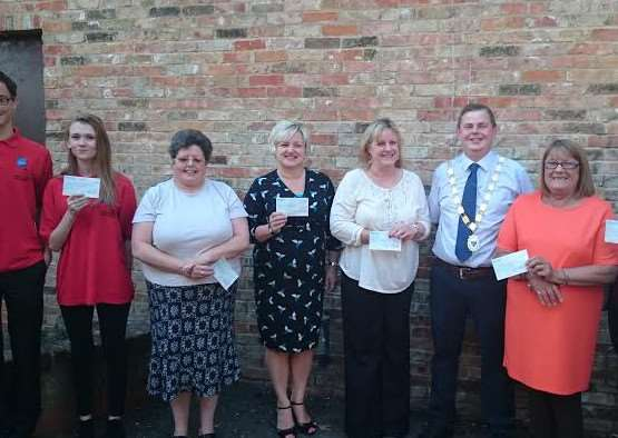 Presentations to charities by the Mayor of Chatteris
