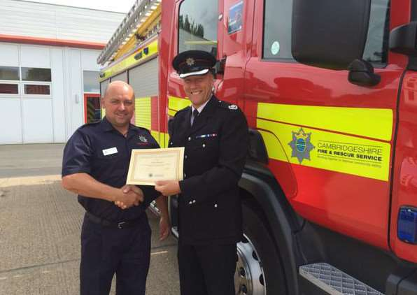 Brand new on-call firefighter Clive Proctor will be based at Manea fire station