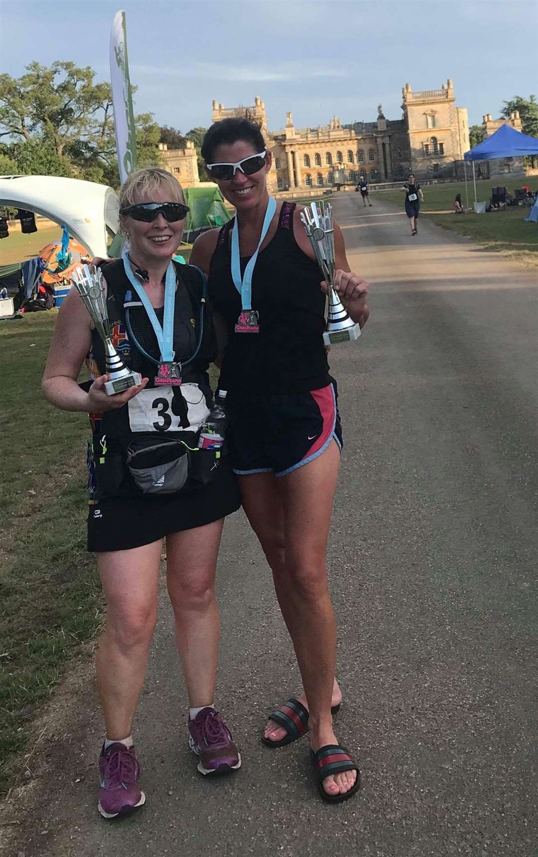 Sarah-Jane Macdonald (2nd Female) and Nicole Coughlin (1st Female) on their first 40 mile GrimReaper Ultra marathon (3449811)