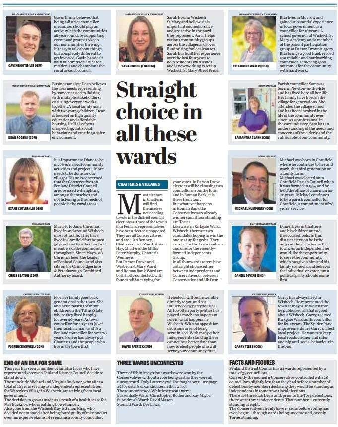 Fenland prepares to go to the polls - here is a round-up of candidates published in this week's Citizen. (9461368)
