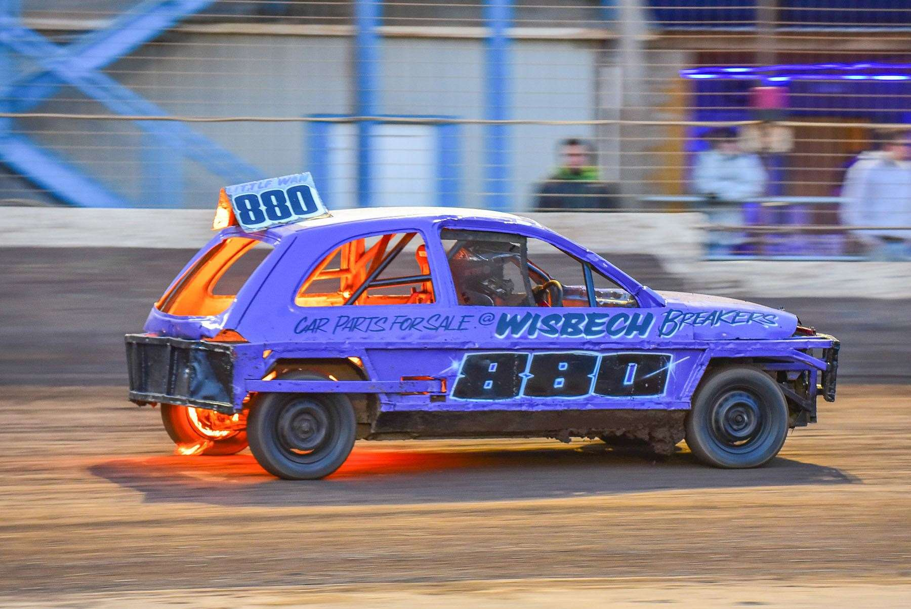 Wisbech 1300 Stock Car driver 880 anthony Kerr will want to avoid a repeat of scenes a fortnight ago where his petrol tank split which saw the car catch fire. (7683676)