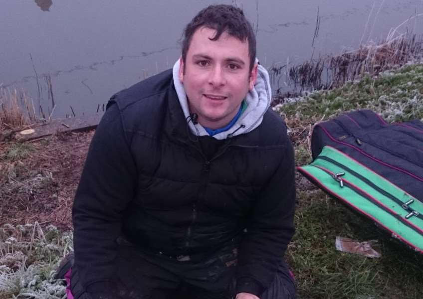 Rob Wright, winner of the East Midland Winter league on Sunday fished on the Old Nene at March