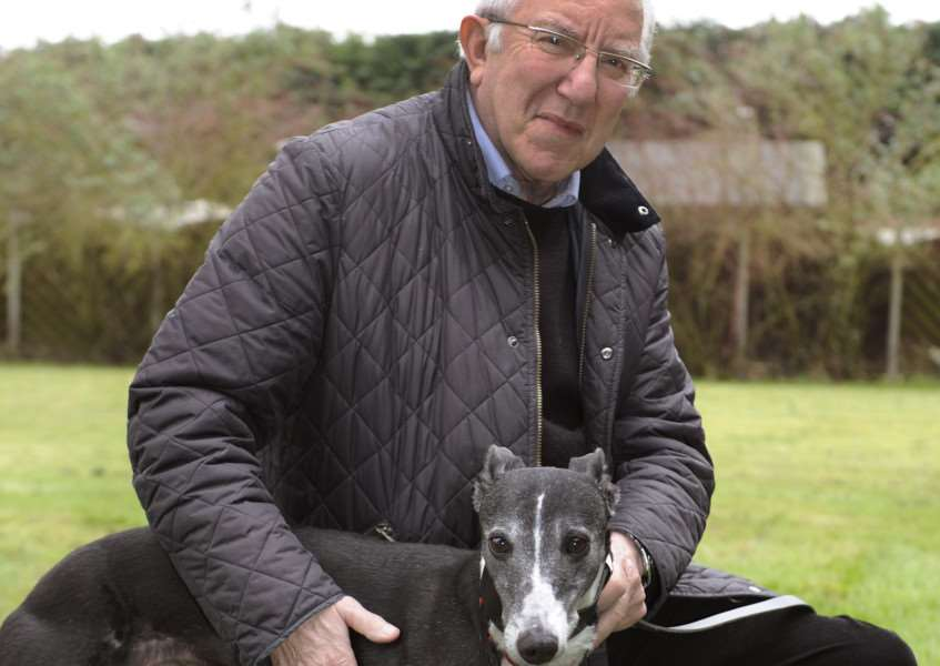 David Hughes from Elm with greyhound Betty ANL-160218-085035009